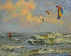 Kitesurfing. Tybee island.