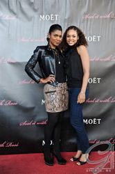"Denise Boutte & Demetria McKinney At The ""Moet & Chandon Present Seal It With Rose' Sunday Brunch"""