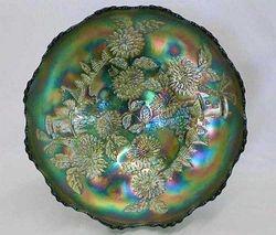 Chrysanthemum large ice cream shape ftd bowl, green