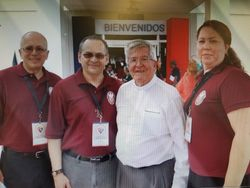 En el ECCLA compartiendo con Mons. Jaramillo