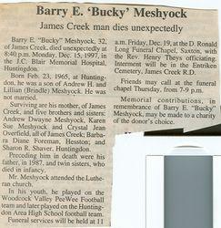 Meshyock, Barry E. 1997