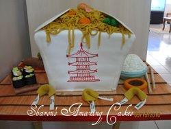 CAKE 22A2- Chinese Take-Out Cake