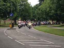 The Ride Past the Barracks by all other support bikers