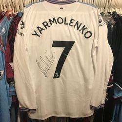 Andriy Yarmolenko worn, unwashed and signed shirt