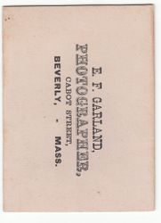 E. F. Garland of Beverly, MA - back