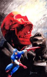 Red Skull and Cap.
