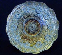 "Captive Rose 9"" plate, blue silvery"