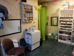 Art center in Play Therapy Room