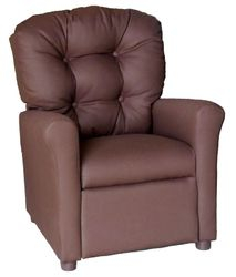 #400 Child Recliner  - Solid Brown cotton