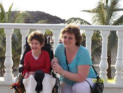 Nikita and Mummy in Tenerife
