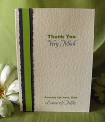 Lime Thank You Card