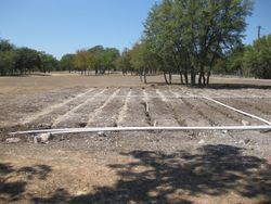 Pressure dose trench system (gravel stage)