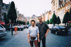 With Victor, Brusselles, Belgium, 2001