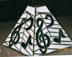 Music note lampshade