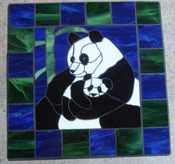 Panda table 18 1/2 X 18 1/2