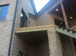 Wood deck side hand rails B-4