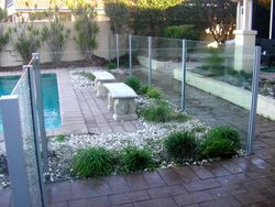 Semiframeless Glass Pool Fencing