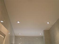 bathroom ceiling finished