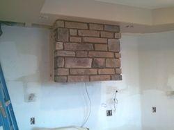 Cultured stone vent hood for stove Denver Colorado