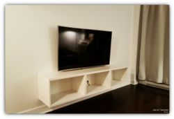 58 inches TV wall mount and Ikea media shelves installation