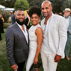 Krish Sidhu, Demetria McKinney and Boris Kodjoe attend Design Care