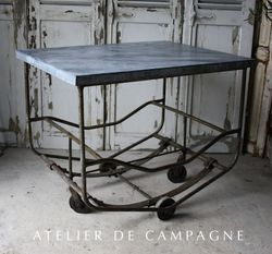 #23/283 Industrial Table/ Cart