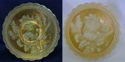 Chrysanthemum chop plate in marigold