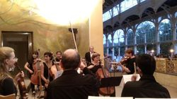 Voor de uitvoering van Brandenburgs concert nr 3 van Bach
