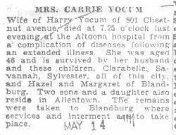 Yocum, Carrie 1932
