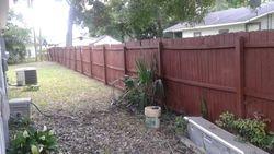 Spray a fence