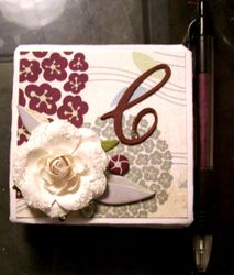 """Monogram """"C"""" Notepad with matching pen"""