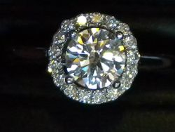round brilliant cut Halo Ring