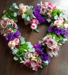 Pink/lilac open heart