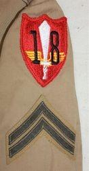 18th Defense Battalion Khaki WW2: