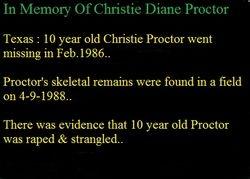 Christie Diane Proctor--Texas 1986