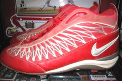 Albert Pujols 2001 Rookie Game Used Shoes Cleats