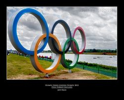 Olympic Rings-London Olympic 2012 Eton Dorney-England