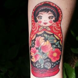 I did this Lovely Russian Nesting Doll on My Dear Friend Anna Brodsky in Memory of her Grandmothe