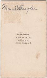 Mrs. Schuyler of River Head, Long Island, New York