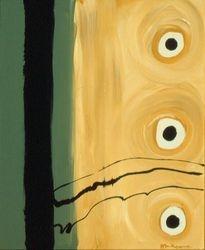Black & Tan #27, Acrylic, 16x20, Original Sold