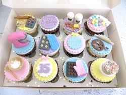 Baking themed Birthday Cupcakes