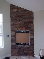 culured stone fireplace near Denver Colorado