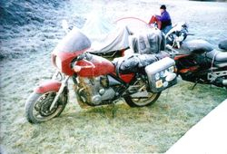 2000 The bikes get frosty. Marg Barlow's Zephyr 550
