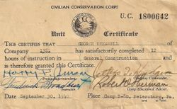 George Kenawell Construction Certificate