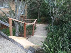 Gravel Path and Timber Steps
