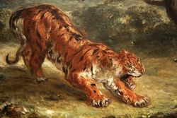 Delacroix, Tiger Attacking a Snake, Corcoran Gallery