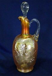 Narcissus & Ribbon wine jug - marigold