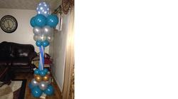 Blue Balloon Column