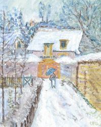 Interpretation of Snow Louveciennes by Alfred Sisley