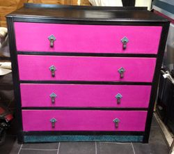 Hot pink drawers